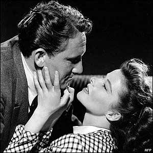 Katharine Hepburn and Spencer Tracy are among the 20th Century Lovers porfiled in out Stories Of Famous Lovers Section